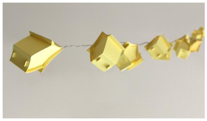 mariekedijkers - papieren huisjes lichtsnoer 15w